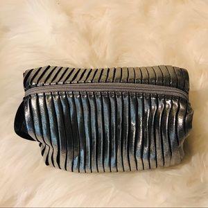 MAC Metallic Grey Small Rectangular Cosmetic Case